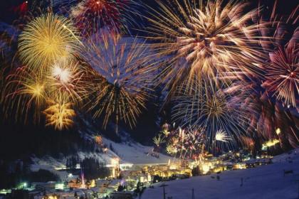 Новогодние гуляния в Карпатах